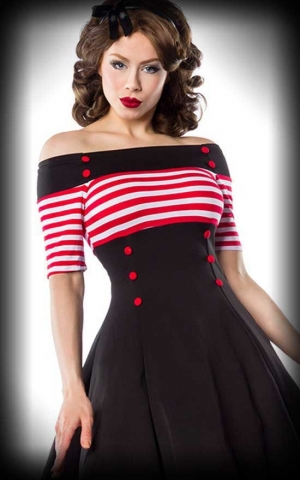 Belsira Sailor Swing Dress Lily with stripes