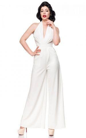 Belsira Neckholder Overall Mary-Ann, white