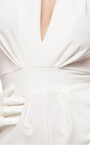 Belsira Neckholder Overall Mary-Ann, blanc