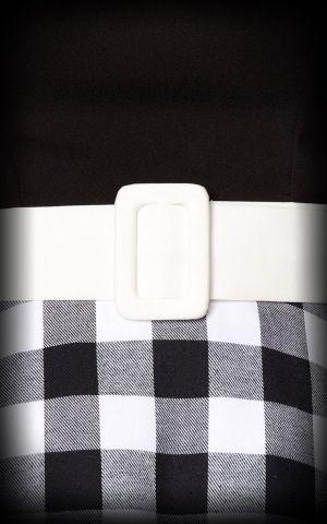 Belsira - Robe Swing, nor et blanc