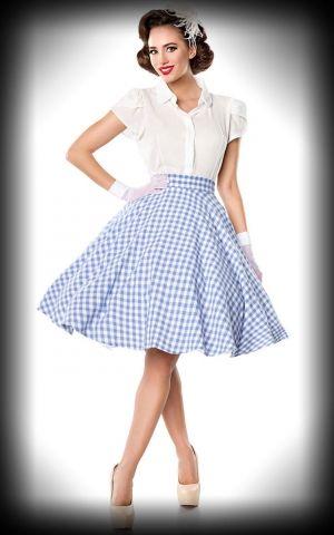 Belsira Vichy Petticoat Skirt Victoria, blue white