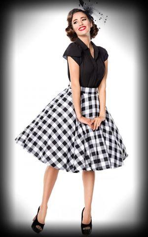 Belsira Vichy Petticoat Skirt Victoria, black white