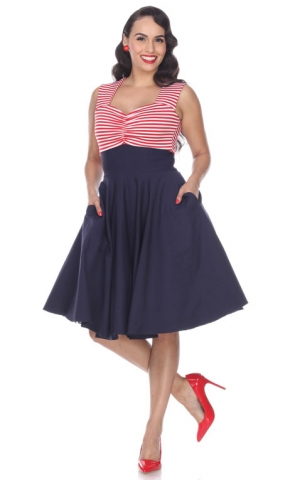 Bettie Page Clothing - Kleid Nautical Dress