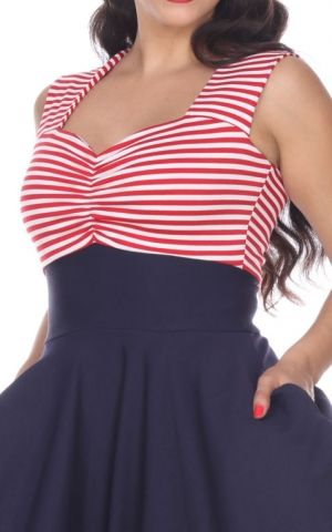 Bettie Page Clothing - Nautical Dress