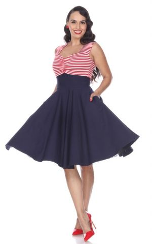 Bettie Page Clothing - Robe Nautical Dress