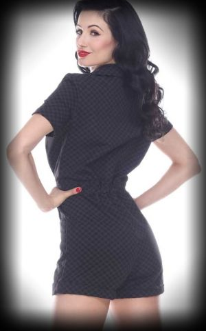 Bettie Page Clothing - Combi-Short Pit Stop, Vichy