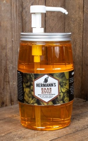 Hermanns Beer shampoo in barrel, 1500 ml