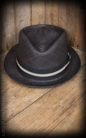 Bigalli Hats - Diamond Stingy, black
