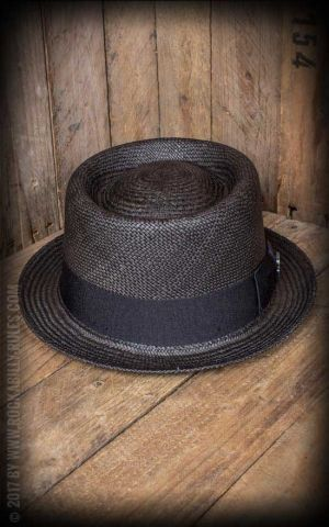Bigalli Hats - Pork Pie Trilby, noir
