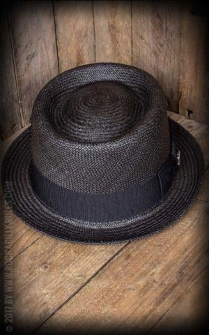 Bigalli Hats - Pork Pie Trilby, noir