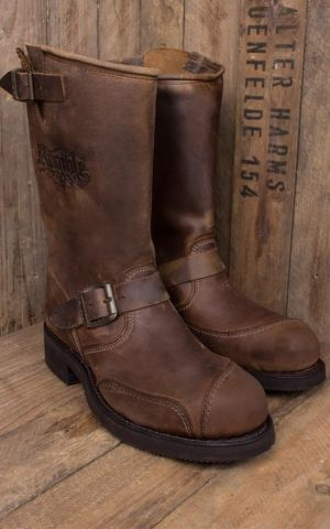 Rumble59 Biker Boots - Made by Sendra - brun