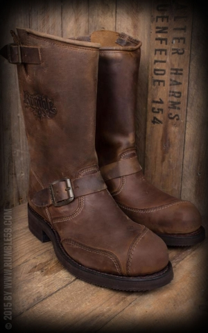 Rumble59 Biker Boots - Made by Sendra - braun