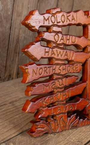 Hawaii Wooden Picture Frame Island Beach Signs