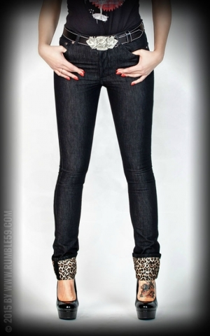 Rumble59 Ladies Denim - Black Marilyns Curves - Slim Fit