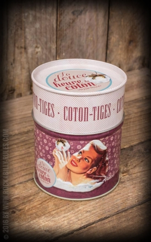 Cotton Bud storage tin - La douce heure du coton