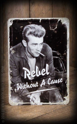 Tin plate postcard - James Dean, Rebel without a cause