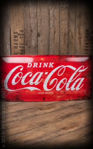 Tin plate sign 25 x 50cm Coca-Cola
