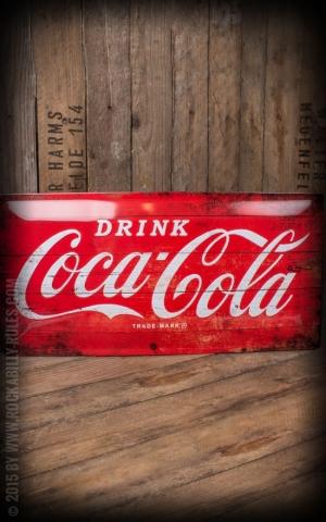 Panneau en métal 25 x 50cm Coca-Cola