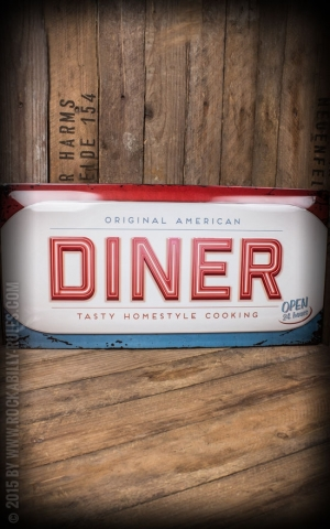 Tin plate sign 25 x 50cm American Diner