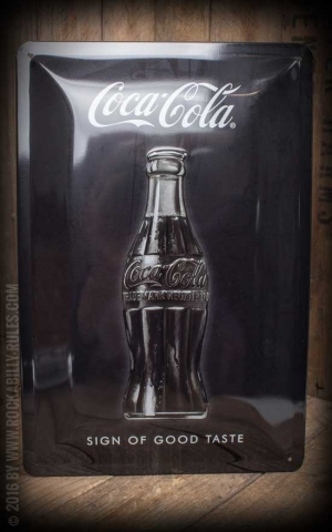 Panneau en métal Coca-Cola Sign Of Good Taste, 20 x 30 cm