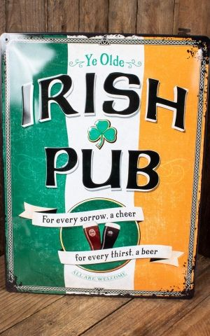 Tin plate sign 30 x 40cm Irish Pub