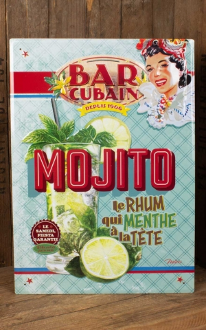 Tin plate sign 30 x 40 cm Mojito