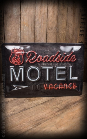 Metal sign 20 x 30cm Route 66 Roadside Motel