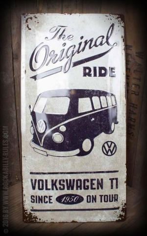 Panneau en métal 25 x 50 cm VW Bulli - The Original Ride