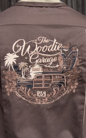 Rumble59 - Bowling Shirt - The Woodie Garage - braun
