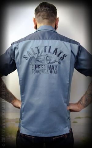Rumble59 - Bowling Shirt - Salt Flats Speedway - bleu foncé