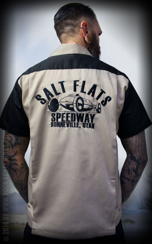 Rumble59 - Bowling Shirt - Salt Flats Speedway - black