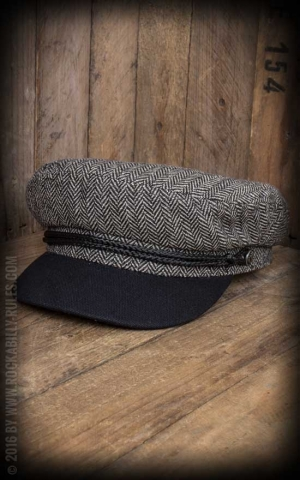 Brixton Cap - Fiddler, heather grey, black