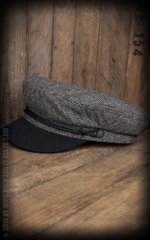 Brixton Cap - Fiddler, heather grey, black