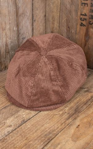 Brixton Brood Snap Cap, brown cord