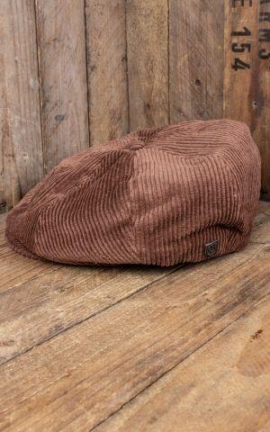 Brixton Brood Snap Cap, brauner Cord