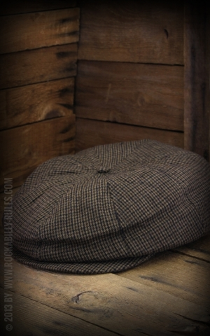 Brixton Cap - Brood Plaid, braun schwarz
