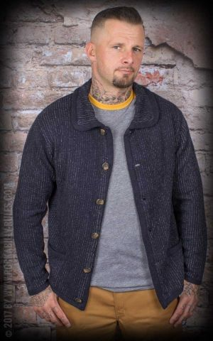 Brixton - Powell Cardigan, navy and grey