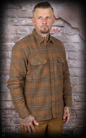 Brixton - Shirt Archie, copper / shale brown