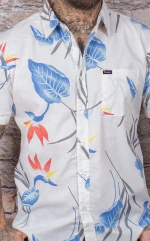 Brixton - Hawaii shirt Charter woven, offwhite