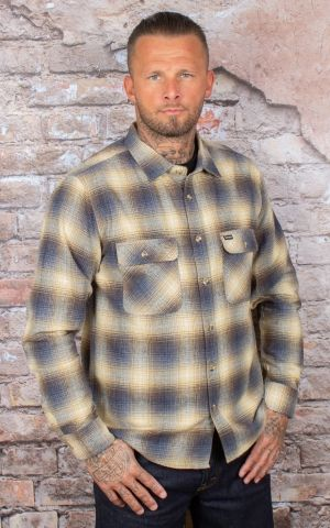 Brixton - Flannel Shirt Archie blue brown