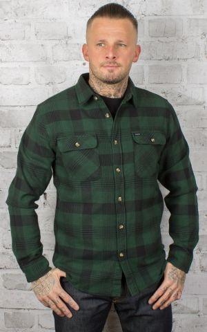 Brixton - Flannel Shirt Bowery Black & Green
