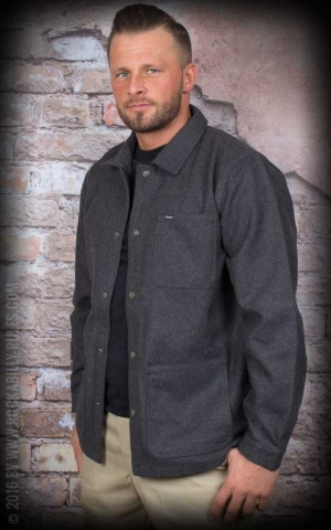 Brixton Jacket - Survey, charcoal