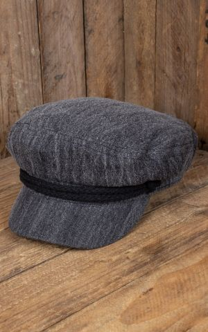 Casquette Brixton - Fiddler, Black Acid Wash