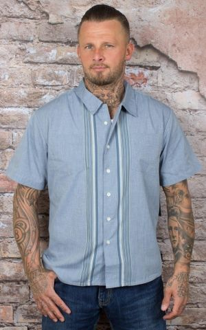 Brixton - Streifen Hemd Cruze Striped Button Up