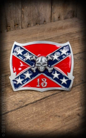 Buckle - Rebel Flag 13