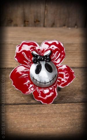 Buckle - Skull Flower