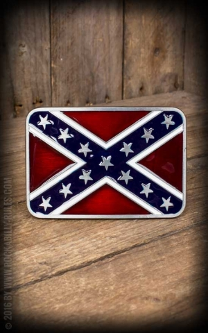 Buckle - Rebel Flag / Confederal flag II