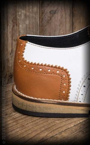 Steelground Chaussures Budapest, brun et blanc