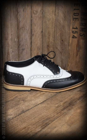 Steelground Budapester Schuhe, schwarz-weiß