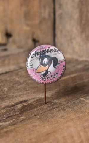 Stylische Buttons Mit Comic Helden Im 50s Retro Look